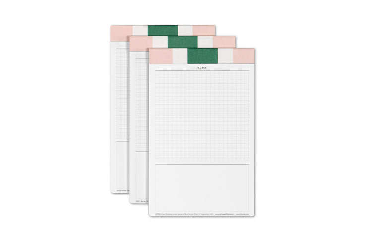 ashley g note pad grid notes pages and lined space 3 pack