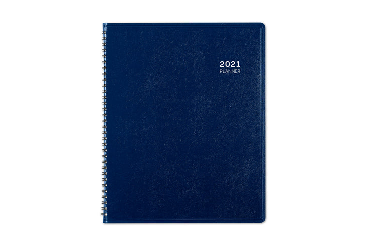 Navy blue pajco lexide cover for this monthly planner in 9 x 11 size for Blue Sky