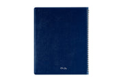 Navy Blue pajco lexide cover with silver twin binding on this 9 x 11 monthly planner