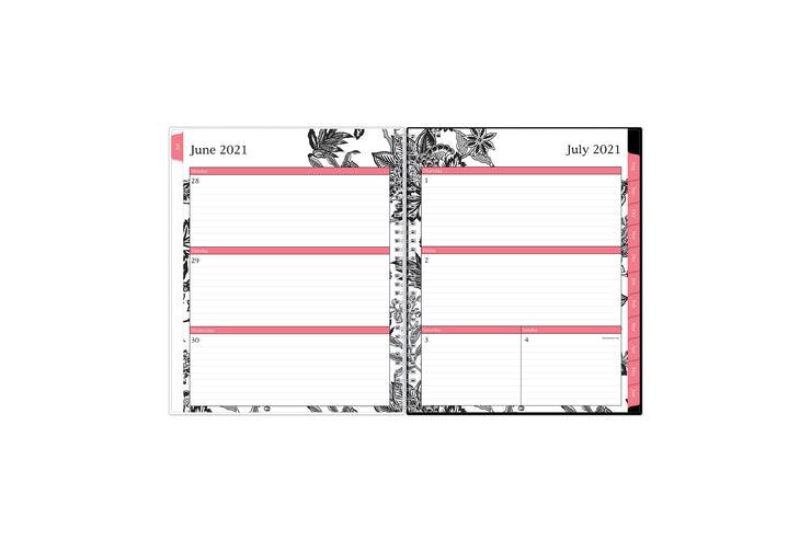 2021-2022 weekly and monthly academic planner featuring a weekly spread with ample lined writing space for notes, to-do list, weekly goals in a 8.5x11 planner