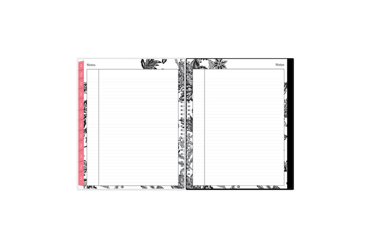 This 2021-2022 weekly monthly planner includes extra notes pages for misc. notes, projects, and goals