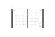 2021-2022 monthly academic professional planner featuring a monthly spread with lined writing space, reference calendars, notes section and silver twin wire-o binding in 8.5x11