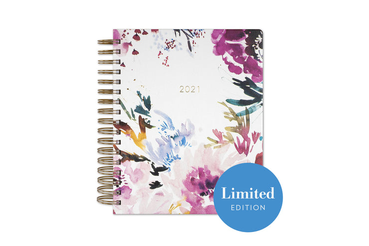 2021 Daily Planner by Kelly Ventura Magenta Blooms 7 x 9