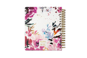 2021 daily planner by kelly ventura featuring a floral watercolor design for the back cover and twin wire-o binding
