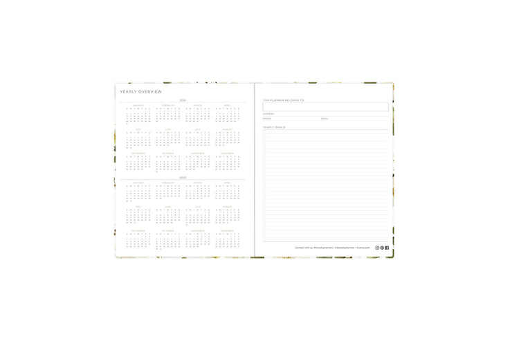 2021-2022 yearly overview reference calendars and owner information and yearly goals