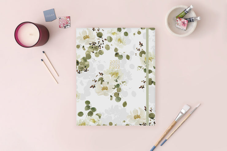 2021-2022 Eucalyptus White 8x10 Weekly Planner Kelly Ventura for Blue Sky