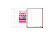 2021-2022 weekly and monthly academic planner by Barbie for Blue Sky featuring stickers and a ruler for optimized planning and organization