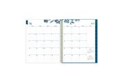 July 2021- June 2022 weekly monthly academic year planner featuring a monthly spread, lined writing space, notes section, reference calendars, and blue monthly tabs in 8.5x11 planner size