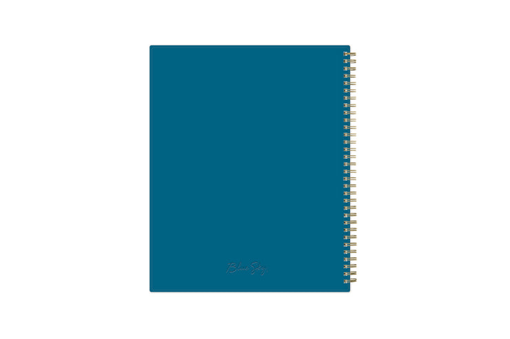 2021-2022 weekly monthly academic school planner featuring twin wire-o binding and a blue back cover in 8.5x11 planner size