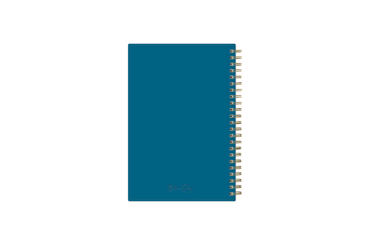 2021-2022 weekly monthly academic school planner featuring twin wire-o binding and a blue back cover in 5x8 planner size