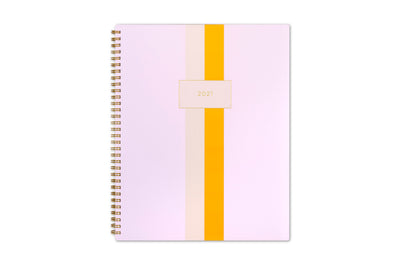 assistant by ashley weekly monthly planner system with pink, white, and gold stripes for 2021