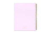 ashley g weekly monthly planning system pink back cover with gold embossing and twin wire-o binding for 2021