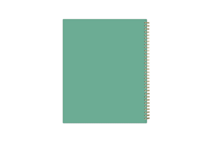 2021-2022 weekly monthly academic school planner featuring twin wire-o binding and a mint back cover in 8.5x11 planner size