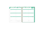 2021-2022 academic weekly monthly planner featuring a weekly spread grid lined notes, to-do list, goals, mint tabs, and reference calendars in 8.5x11 planner size