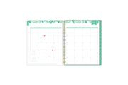2021-2022 academic weekly monthly planner featuring a monthly spread grid lined notes, to-do list, goals, mint tabs, and reference calendars in 8.5x11 planner size