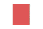 2021-2022 academic planner weekly and monthly with gold wire-o and coral 8.5x11 background cover
