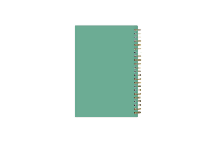 2021-2022 weekly monthly academic school planner featuring twin wire-o binding and a mint back cover in 5x8 planner size