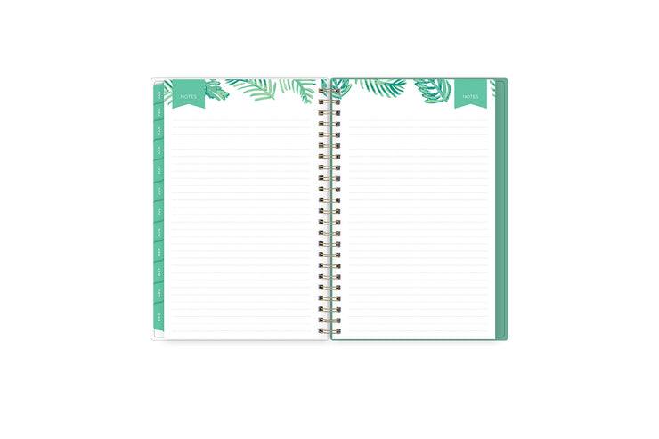 Lined notes pages on the 2021-2022 weekly monthly planner for July to June