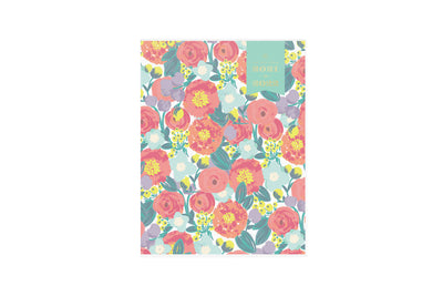 2021-2022 monthly academic planner from Day Designer for blue sky July 2021 - June 2022 featuring a floral pattern front cover in 8.5x11 size