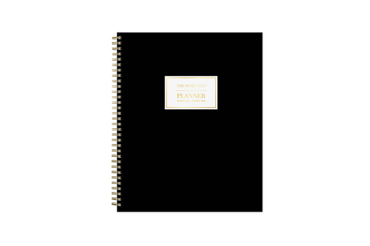 the home edit for blue sky 8.5x11 solid black cover for 2021-2022 academic year featuring twin-wire binding
