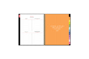 The home edit weekly monthly planner for blue sky in 8.5x11 size with multi-colored monthly tabs
