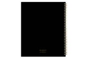 2021-2022 The home edit weekly monthly for day designer featuring a solid black front and back cover and twin wire-o binding.