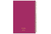 2021-2022 weekly monthly academic school planner featuring twin wire-o binding and a hot pink back cover in 5x8 planner size