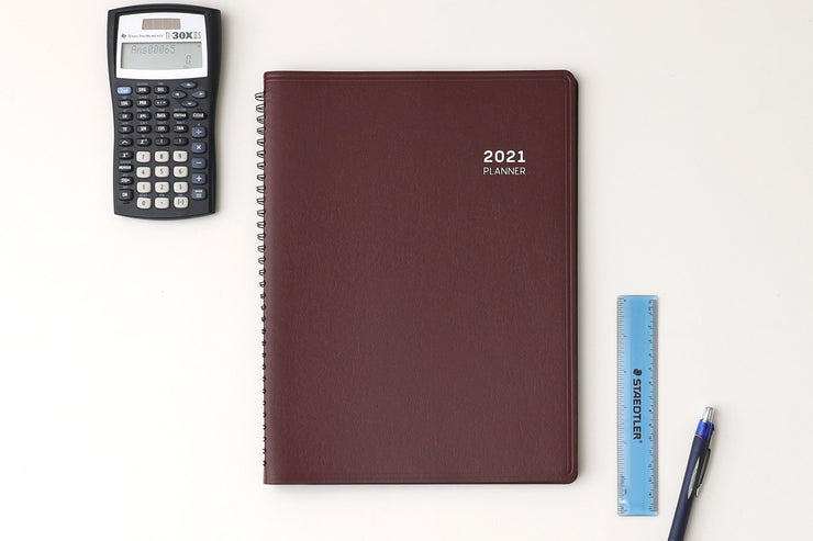 2021 Aligned Burgandy 8.25 x 11 Appointment Book