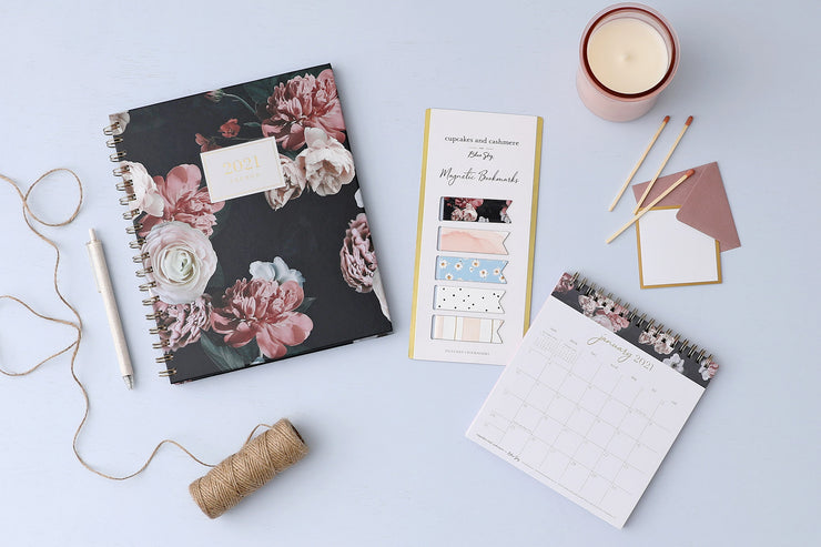 2021 Desk Calendar by cupcakes and cashmere Midnight Musk II 6 x 6