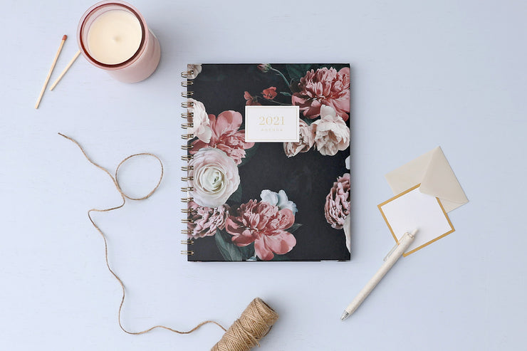 2021 Weekly Planner by cupcakes and cashmere  Midnight Musk II 7 x 9