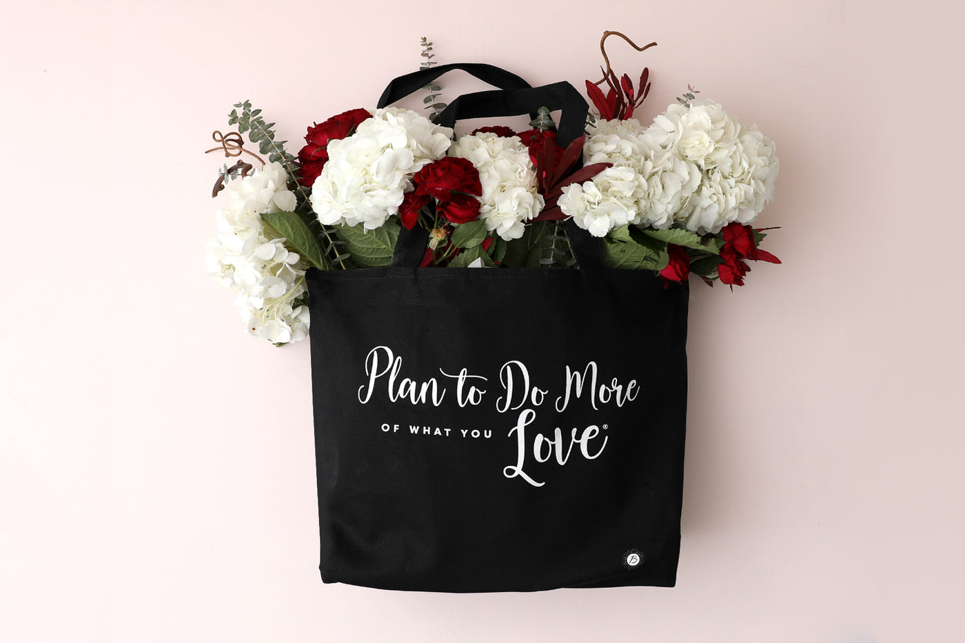 More of What You Love Black Canvas Tote Bag