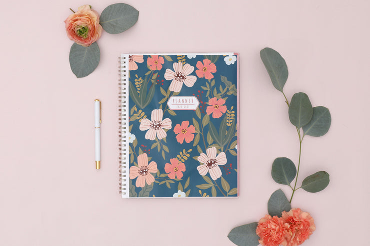 2020-2021 Cottage Flowers 8.5 x 11 Weekly Planner