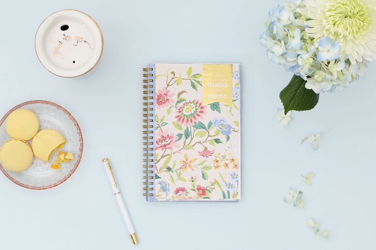 2020-2021 Climbing Floral Weekly Planner 5x8 Day Designer