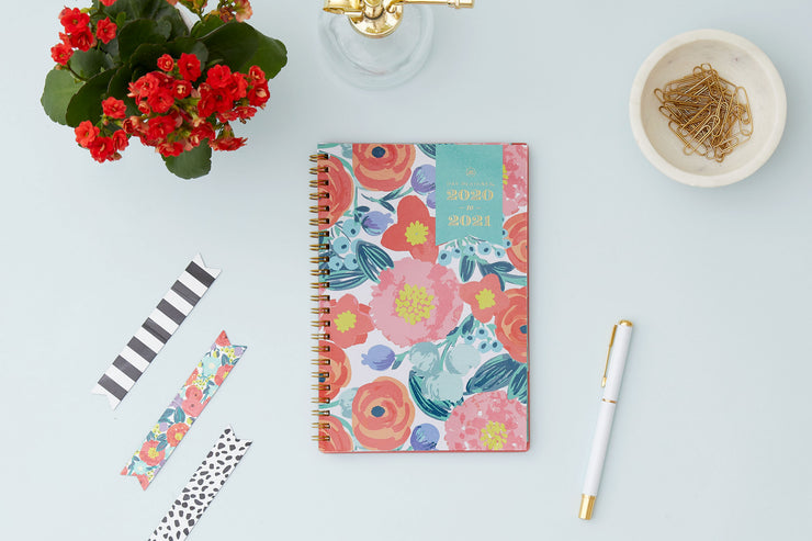 2020-2021 Floral Sketch Weekly Planner 5 x 8 Day Designer