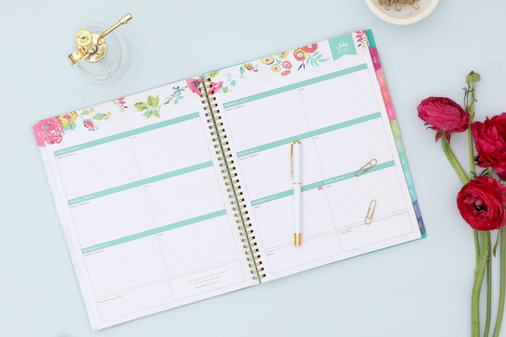 2020-2021 Peyton White Weekly Monthly Planner 8.5 x 11 Day Designer