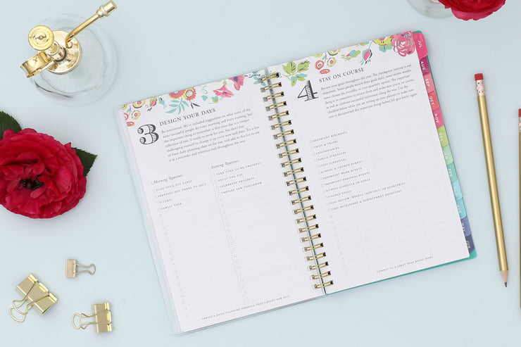 2020-2021 Peyton White Weekly Monthly Planner 5 x 8 Day Designer