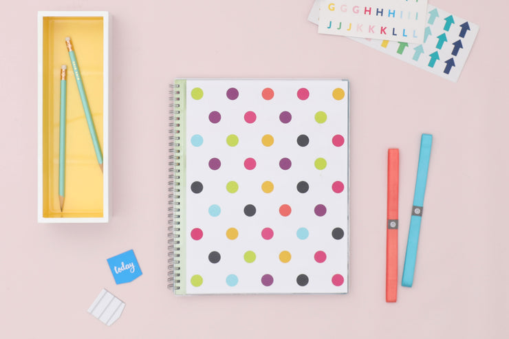 2020-2021 Dots 8.5 x 11 Teacher Lesson Planner
