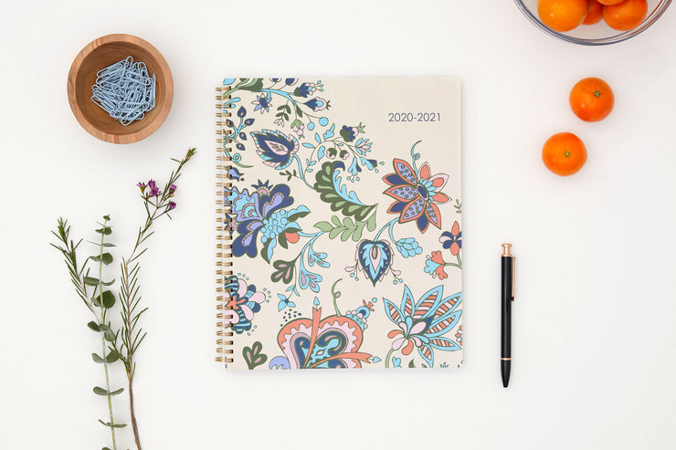 2020-2021 Fab Floral 8.5 x 11 Weekly Planner