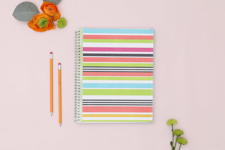 2020-2021 Stripes 8.5 x 11 Teacher Lesson Planner