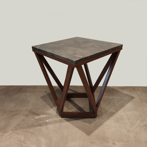 Mesa lateral cubierta marmol, side table marble top*