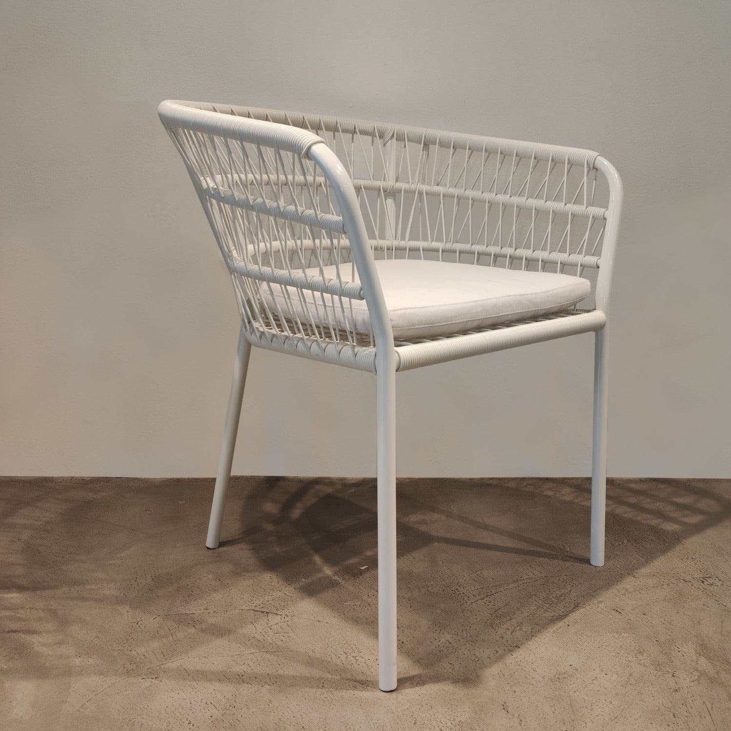 Silla de exterior blanca-Outdoor chair