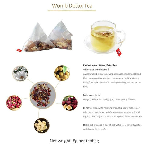 Image of Womb Detox Tea | Menstrual Cramp Relief Tea | Menstrual Cycle Regulating Tea