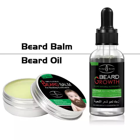 AICHUN BEAUTY Beard Oil And Beard Balm | Bundle Deal
