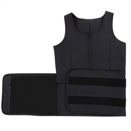 Image of Neoprene Body Shaping Vest With Zipper | Yoga Sports Sweat Vest - Ginax Store