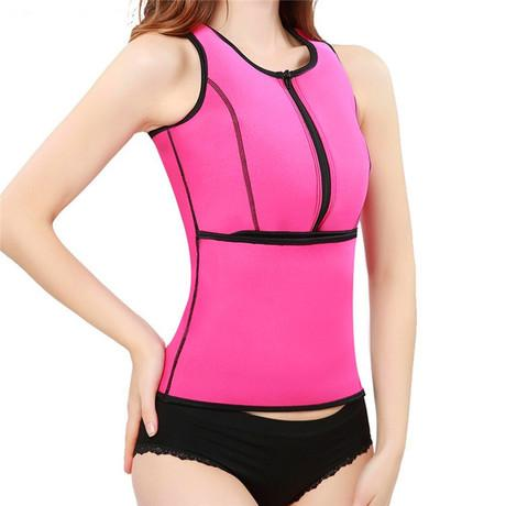 Neoprene Body Shaping Vest With Zipper | Yoga Sports Sweat Vest - Ginax Store