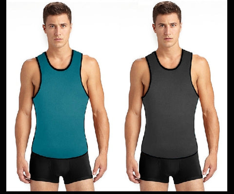 Image of HIGH-GRADE Men's Neoprene Sweat Vest With Side Zipper | Body Shaping Corset For Males