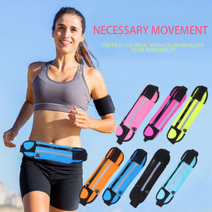 Slim Sports Waist Bag For Men And Women | Gym Waist Pouch