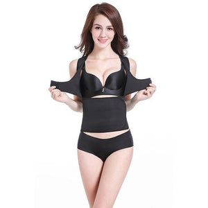 NEW Ultra-Thin Sweat Vest With Adjustable Bust Support Hooks And Waist Cincher