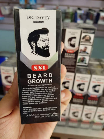 DR. DAVEY Intense Solution Beard Growth Oil | Max Beard Growth Serum