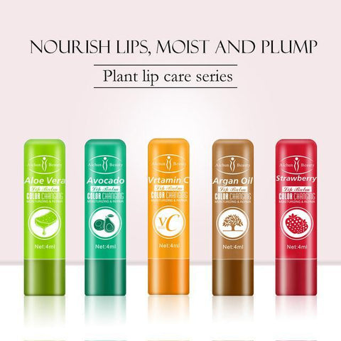 AICHUN BEAUTY Color Changing Lip Balm (5 Flavors) | Moisturizing and Repair Lip Balm
